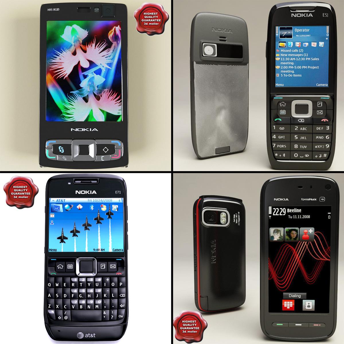 Nokia Phones V2 3d Model E71 Gsm Original
