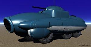 3d obj armoured car