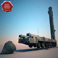 RT-2UTTKh Topol M ballistic missiles launcher V2