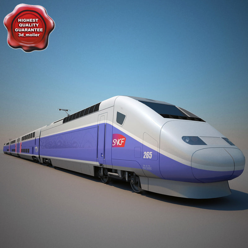 sncf tgv duplex train 3d model