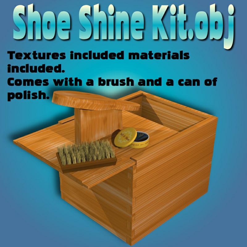 shoeshinekit shoe shine kit 3d obj