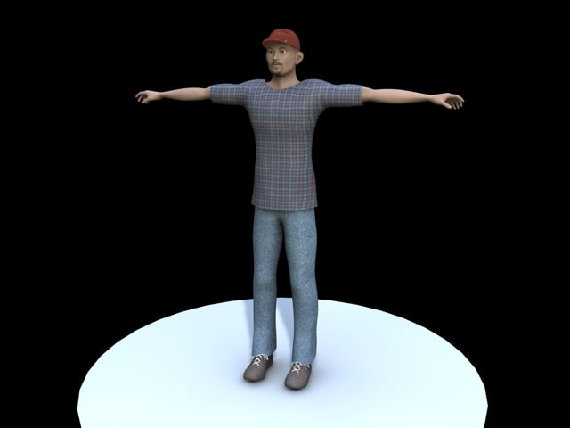 3d character casual man model