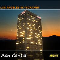 night aon center skyscraper 3d model