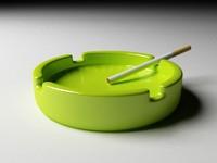 3d model glass ashtray