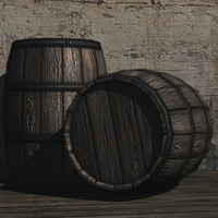 3d max wine barrel prop