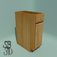12 base cabinet functional 3d model