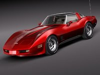 3d chevrolet corvette c3 1980