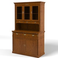 classic country cupboard 3d model