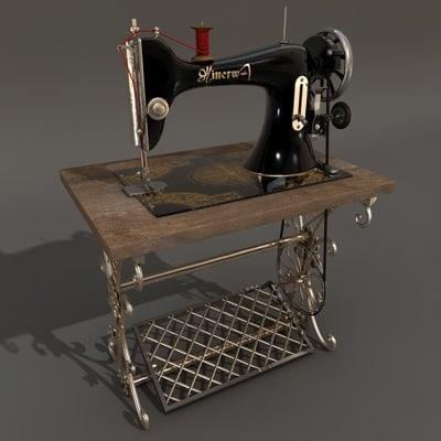 3d model sewing machine