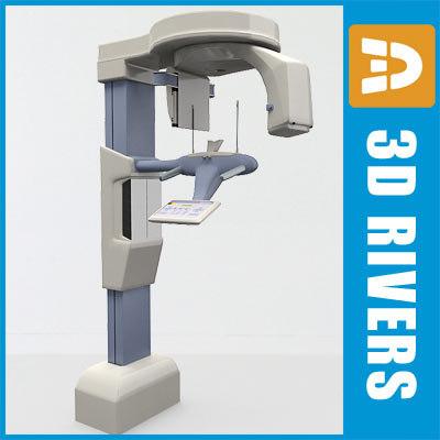 dental x-ray machine 3d model