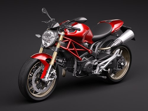 Ducati monster 1100s 2009 3d lwo for Monster 3d model