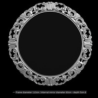 elle moda round mirror modacollection