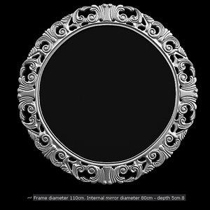 elle mirror modacollection 3d max