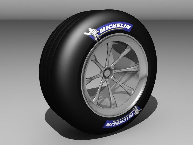 3d F1 Race Car Tyre