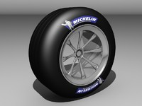 3d f1 race car tyre