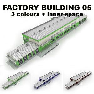 3d factory building 05 model