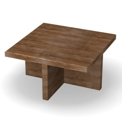 obj wooden table