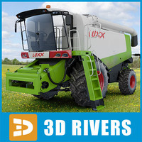 Combine harvester CLAAS LEXION 570 by 3DRivers