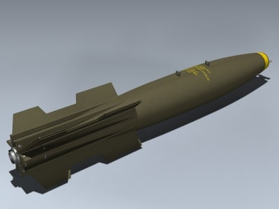 free 500 bomb 3d model