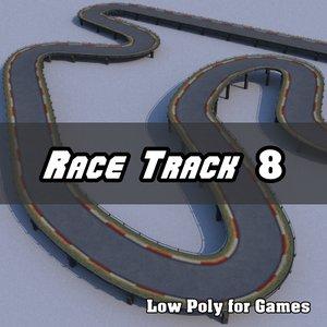 3d model race track