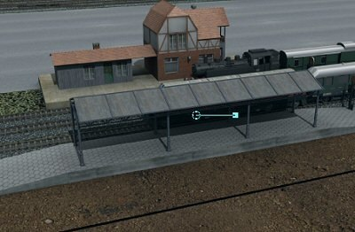 3d model train platform
