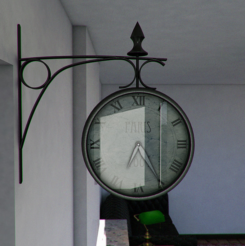 max train station clock