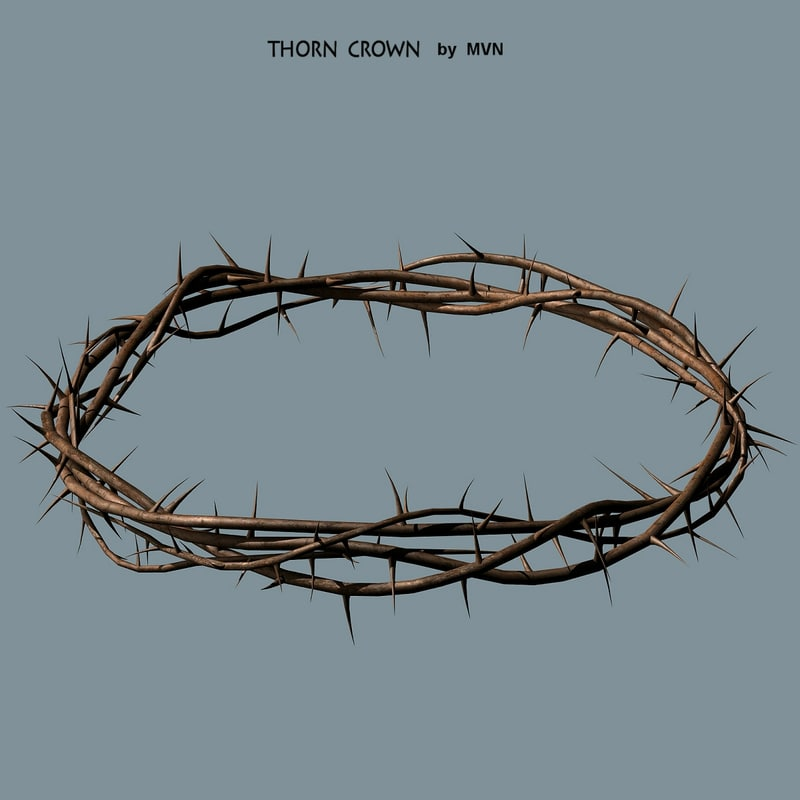 obj thorn crown