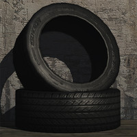3d car tyre prop model