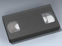 vhs cassette 3d obj
