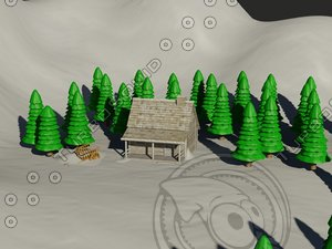 scene snow christmas 3d model