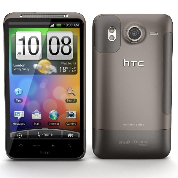 3d model of htc desire hd