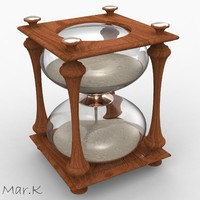 3d model classic hourglass