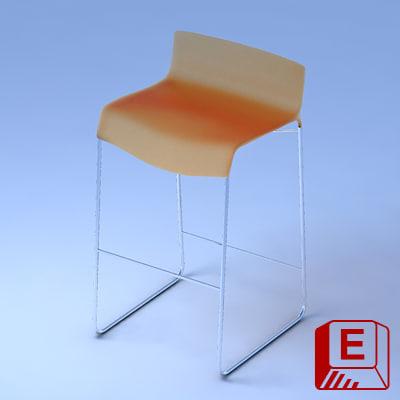 stacking bar stool loewenstein 3d model