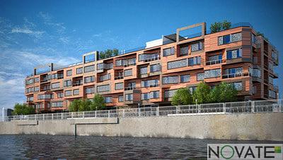 3d scene living apartment model