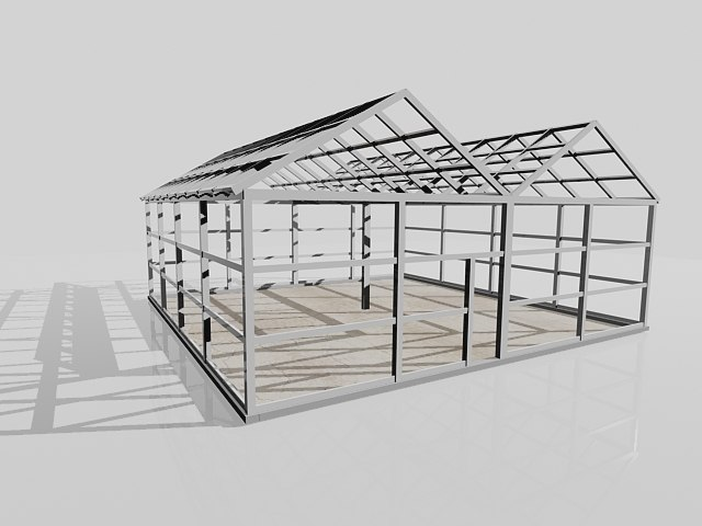 3d wooden greenhouse
