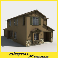 subdivision house 3d model