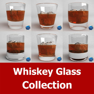 whiskey glass 3d max