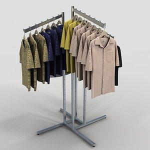 3d model men golf shirts