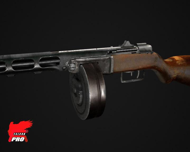 3d model of ppsh-41