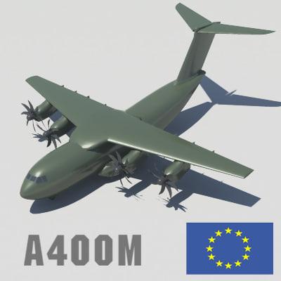 3d model airbus a400m heavy lift