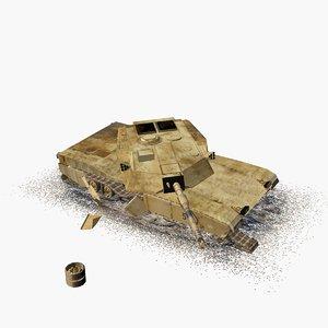 damaged m1 abrams tank max