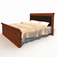 classic bed 3d obj