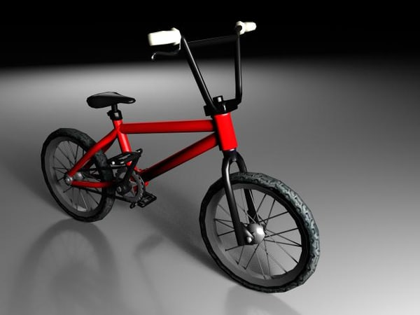 bicycle bmx 3d max