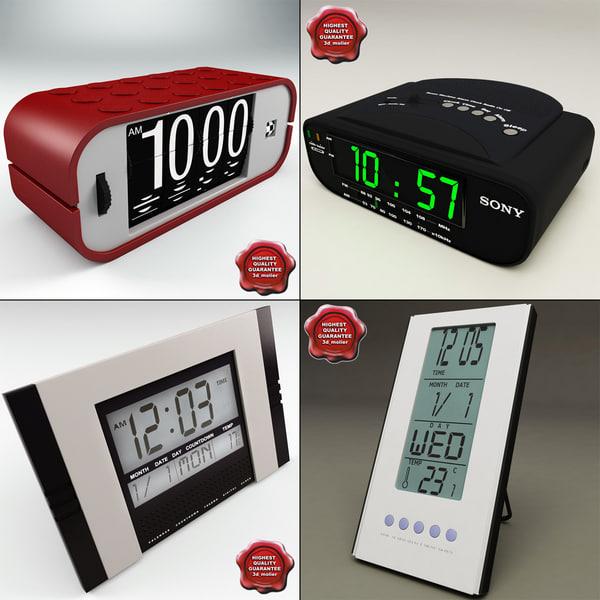 3d clocks digital radio