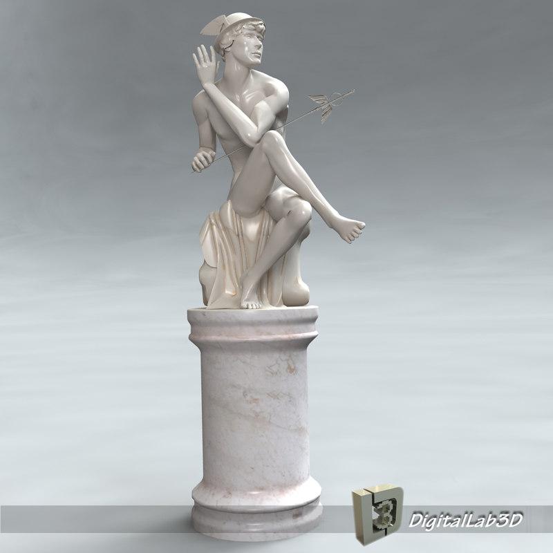 3d model mercury mural human