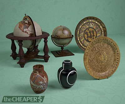 3d objects decoration