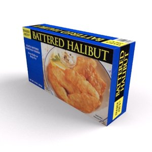 box fish sticks 3d model