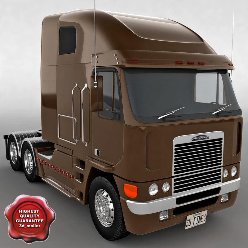 3d model freightliner argosy