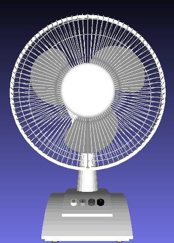 blade fan 3d obj