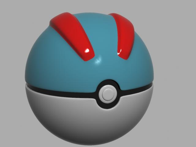 greatball pokemon 3d model